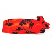 Red Tradewinds Cummerbund and Bow Tie
