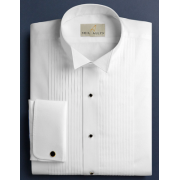 "Neil Allyn 1/4"" Pleated Wing Collar Tuxedo Shirt"