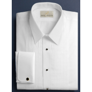"Neil Allyn 1/4"" Pleated Lay Down Collar Tuxedo Shirt"