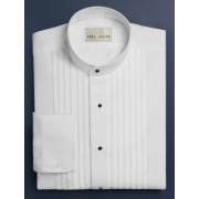 "Neil Allyn 1/2"" Pleated Banded Collar Tuxedo Shirt"