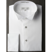 Ike Evening Cotton Pique Wingtip Collar Tuxedo Shirt