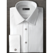 Ike Evening Cotton Twill Plain Front Lay Down Collar Tuxedo Shirt