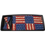 American Rustic Flag Cummerbund and Tie Set