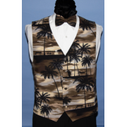 Brown Tradewinds Vest and Bow Tie Set