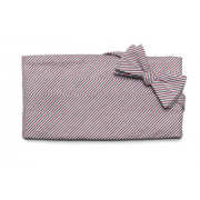 Americana Seersucker Stripe  Patriotic Cummerbund and Tie Set