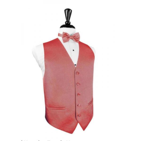 Pink Venetian Vest and Bow Tie