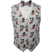 Totally Mickey Mouse Vest and Bow Tie Set