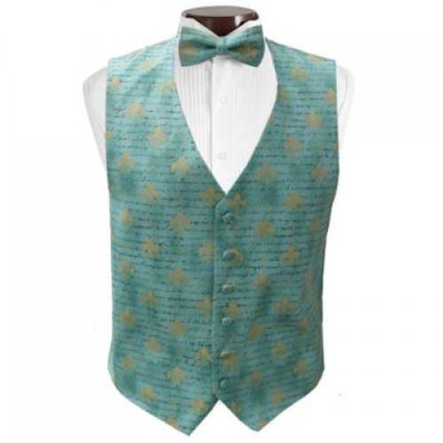 French Quarter Mardi Gras Vest and Tie Set