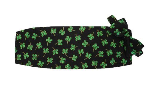 Irish Magical Shamrocks Cummerbund and Bow Tie