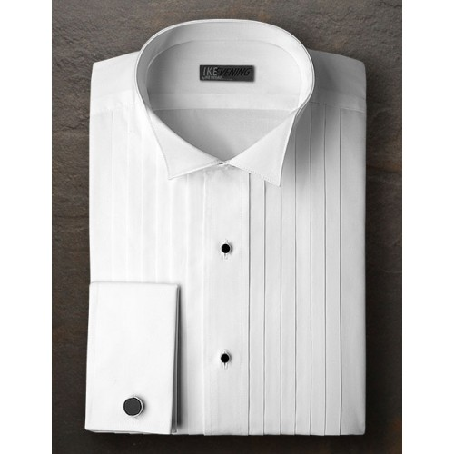 Ike Behar Broadcloth Wing Shirt