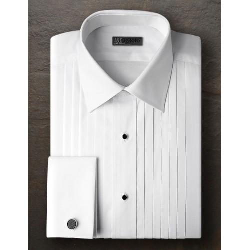 Ike Behar Broadcloth Point Collar Shirt