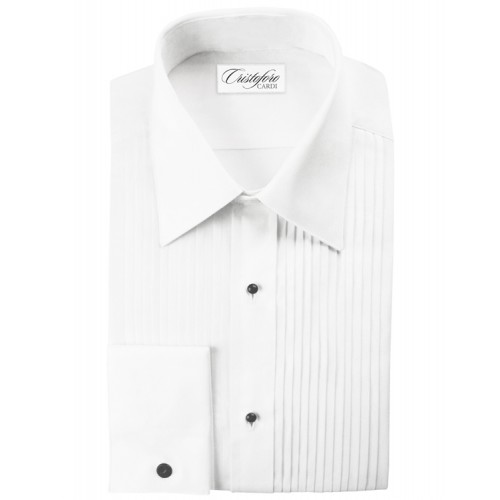"Cristoforo 1/4"" Pleated Laydown Collar"