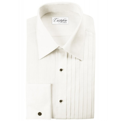 "Cristoforo 1/2"" Pleated Laydown Collar"