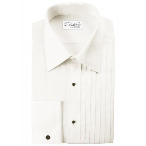 "Cristoforo 1/2"" Pleated Laydown Collar"