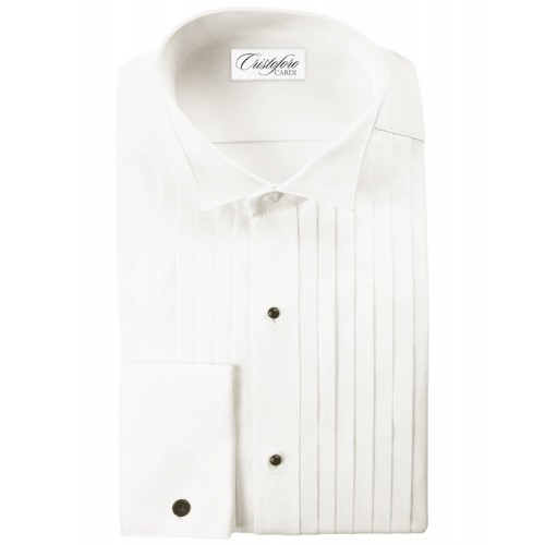 "Cristoforo 1/2"" Pleated Wingtip Collar"