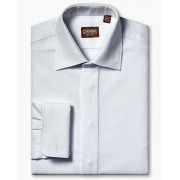 Gitman Medium Spread Collar Cotton Pique French Cuff Tuxedo Shirt