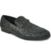 Glitter Slip On Tuxedo Shoes