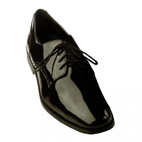 Frederico Leone Chicago Patent Tuxedo Shoes - Black