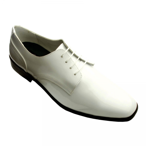 Frederico Leone Chicago Patent Tuxedo Shoes - White