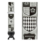 Limited Edition Coat of Arms Black & White Brace: 100% Woven Silk