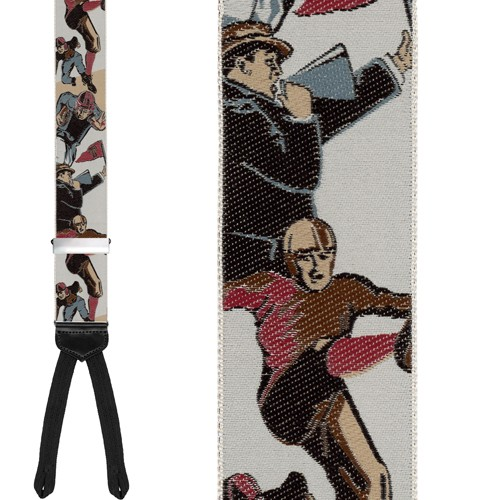 Limited Edition Leatherheads Brace: 100% Woven Silk