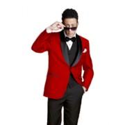 """Modern """"Bradford"""" Red Tuxedo"""