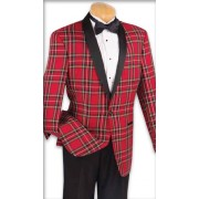 "Plaid Shawl ""Oxford"" Tuxedo Jacket & Pants Set"