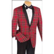"""Plaid Shawl """"Oxford"""" Tuxedo Jacket & Pants Set"""