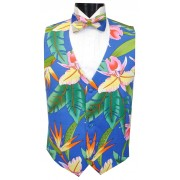 Bird of Paradise II Tuxedo Vest and Tie Set