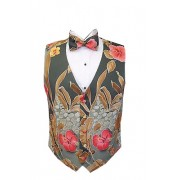Destination Hawaiian Floral Vest and Bow Tie Set