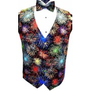 Fireworks Vest and Bow Tie Set