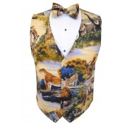 Jungle Safari Vest and Bow Tie Set