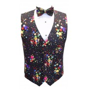 Mardi Gras Dots Vest and Tie