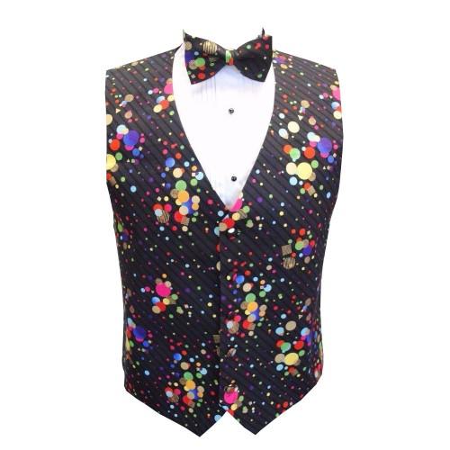 Mardi Gras Dots Vest and Tie
