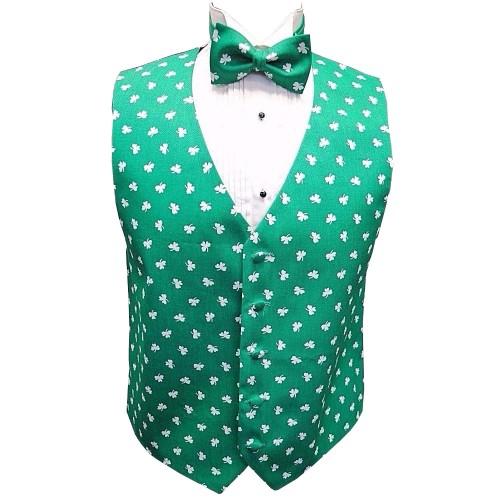 Saint Patrick's Shamrocks Vest and Tie Set