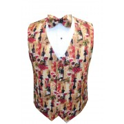 Wine Bottles II Vest and Bow Tie Set