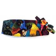 Hawaiian Tropical Birds Cummerbund and Bow Tie Set