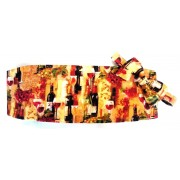 Wine Bottles II Cummerbund and Tie Set