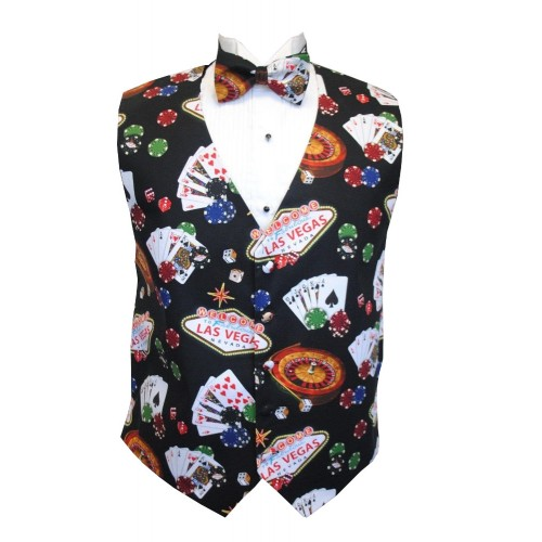Casino Royale Vest and Bow Tie Set