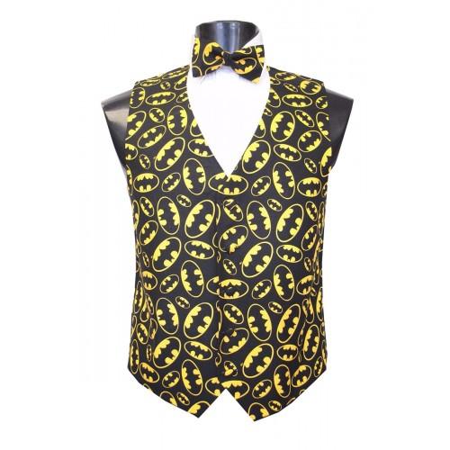 Batman The Dark Knight Tuxedo Vest and Bow Tie Set
