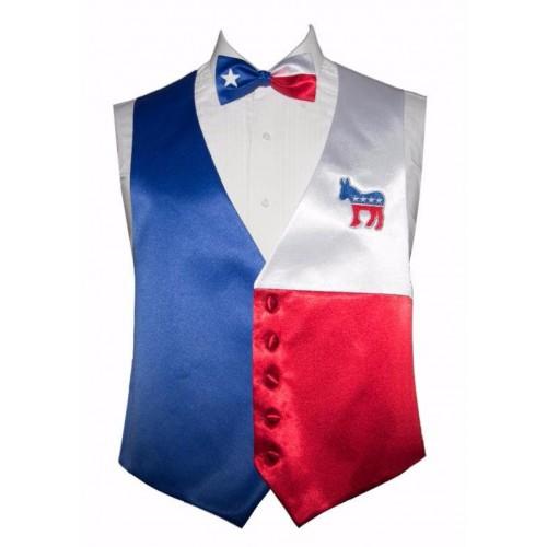 Vote Democratic Vest and Bow Tie Set