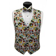 Mickey Mouse Comic Strip Vest and Tie Set