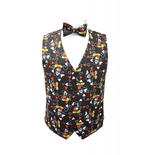 Mickey Mouse Celebration Tuxedo Vest and Bow Tie Set
