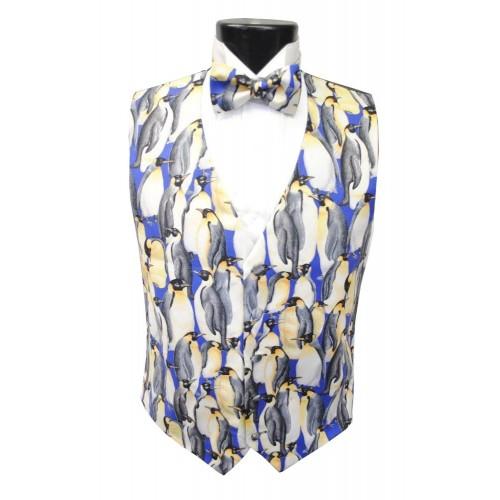 Emperor Penguin Vest and Bow Tie Set