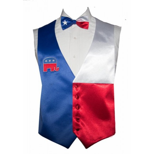 Vote Republican Vest and Bow Tie Set