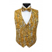 Tiger Stripes Tuxedo Vest and Tie Set